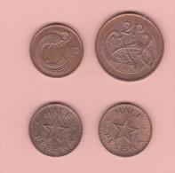 Lotto 4 Monete Da Classificare In Rame - Monete
