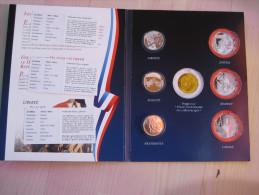 3 Mal 5 € - Münzen In Einschweißfolder - Egalite, Liberte, Fraternite, 2013 - Frankreich
