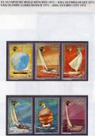 Olympia-Stadt Kiel Segeln Jemen 1426/54,Block 170+171 O 17€ Olympiade München 1972 Ship Sport M/s Olympic Sheet Bf Yemen - Jemen