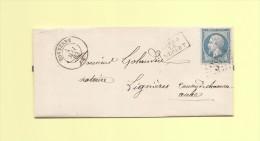 Tonnerre - 83 - Yonne - Apres Le Depart  - 4 Mai 1863 - 1849-1876: Classic Period