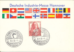 Germany Card Deutsche Industrie-Messe Hannover 24-4-1958 - [7] Federal Republic