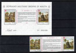 Weihnachten 1979 Gemälde Malteser Orden 171/2 + Block 13 ** 4€ SMOM Art Bloc Painting Christmas Sheet Bf Ordine Di Malta - Malte (Ordre De)