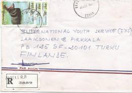 Congo 1996 Brazzaville Hippopothamus Registered Cover - Congo - Brazzaville