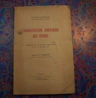 DROIT JUSTICE P. CARLES HABILITATION JUDICIAIRE DES EPOUX 217 ET 219 CODE CIVIL 1942 - Right