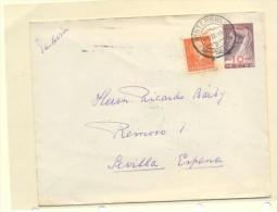 CARTA WINTERSWIJK 8HOLANDA9 A SEVILLA FRANQUEADA CON SELLO Nº513 Y 122 SOBRECARGADO NEDERLAND 10 CTM - Postal Stationery