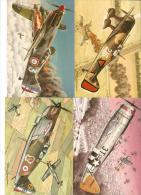 Lot De 12 Cartes  - Aviation - Les Chasseurs De La Seconde Guerre Mondiale / Dessin De Francis Bergèse - 1939-1945: 2ème Guerre