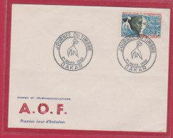 AOF //  JOURNEE DU TIMBRE  //  DAKAR  //  21 MARS 1959 - Covers & Documents