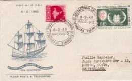 INDIA-1965-INTERNATIONAL CHAMBER OF COMMERCE-FDC- To SWITZERLAND - FDC
