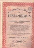 Cie Belge De Fer & Métaux - Merksem - Actions & Titres