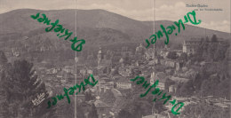 Panoramakarte: Baden-Baden Von Der Friedrichshöhe, Um 1900 - Baden-Baden
