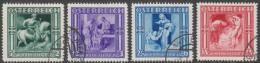 Oostenrijk  Michel 628/31  Gestempeld  Cote 27,00 Euro - Gebruikt
