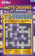 TICKET FDJ MOTS CROISES - 1/516...587-041 - Lottery Tickets
