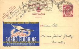 Carte Publicité Sorbo Flooring 1947 Bruxelles - Entiers Postaux