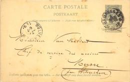 Carte Postale 1891 Bruxelles Wolverthem  Meysse - Entiers Postaux