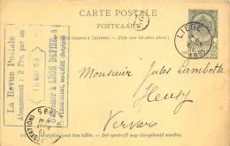 Carte Postale 1895 Verviers Liège - Entiers Postaux