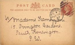 Post Card Great Britain  1893 Croydon - Entiers Postaux