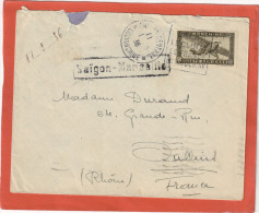 INDOCHINE YVERT PA32 SUR LETTRE DAGUIN DALAT LE CLIMAT DE FRANCE 11/2/36 POUR OULINS - Lettres & Documents