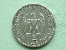 1935 A - 5 ReichsMark / KM 86 ( Uncleaned - For Grade, Please See Photo ) ! - [ 4] 1933-1945 : Troisième Reich
