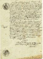 Acte Tribunal Civil Chateaudun 1815 Empire Français 2 Cachets +2 Cachets Secs 1 Feuille - Matasellos Generales