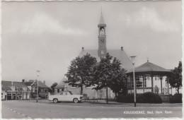Koudekerke: SIMCA ARIANE ('61) -  Ned. Herv. Kerk  & Muziekkoepel - Zeeland Nederland - Voitures De Tourisme