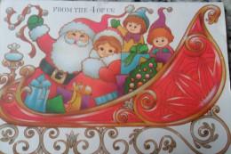 Carte De Voeux Pere Noel Hallmark Ecrit - Weihnachtsmänner