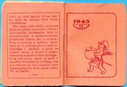 EX.YU. Calendar 1945. 7 X 6,2cm. - Calendriers