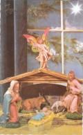 Carte Postale Des Années 50 - Joyeux Noël - Crêche - Noël