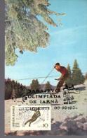 Romania, Maximum Card, Sport, Skiing, Poststamp Sarajevo 1984 Winter Olympiad - Skiing