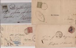 REGNO VE II - LOTTO Di Storia Postale - 4 Buste/Pieghi - 1878-00 Umberto I