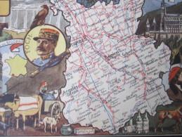 CPA Carte Géographique Hautes-Pyrénées Formé En 17190 Maréchal Foch Théophile Gautier Tour Des Jacobins à Bagnères - Maps