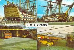 Bateau Navire Amiral De Guerre Trois Mâts Voile -H-M-S VICTORY  (Multi Vues)*PRIX FIXE - Guerre
