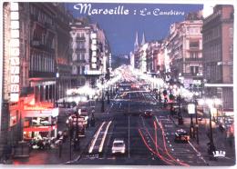 MARSEILLE La Canebière La Nuit - The Canebiere By Night - Cpsm édition Pec - Iris N° 15.55/388 Non écrite - Canebière, Centre Ville