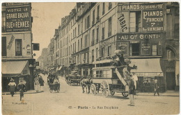 Paris Rue Dauphine Pub Piano Frincken Fiacre Policier Rue Guenebaud Envoi Chef Cuisine Casino Villers Sur Mer - Taxi & Carrozzelle