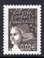 France N° 3444c XX  Marianne Du Bicentenaire 0.02 € Variété 2 Bandes De Phosphore TB - Varieties: 2000-09 Mint/hinged