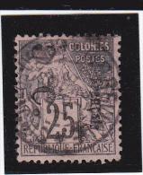 CONGO - YVERT N°4a OBLITERE SURCHARGE VERTICALE  - COTE = 140 EUROS - SIGNE SCHELLER - Französisch-Kongo (1891-1960)