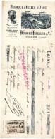 13 - GRANS - TRAITE FABRIQUE D' HUILES D' OLIVE- HUILE- MARIUS TEISSIER - LA BAMBARRINE- BEURRE DE BAMBARRA-1914 - France