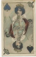 Surrealisme Montage La Belle Otero Dame De Pique Edit RPH - Playing Cards