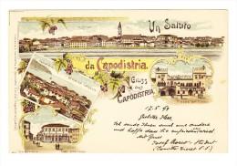 "1890 - 5 Kr Franz Josef Auf Litho ""Un Saluto Da Capodistria"" Von Capodistria 17.5.99 Nach Constantinopel - Slovénie"