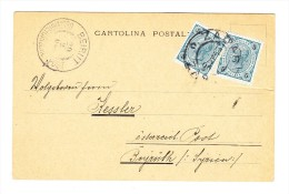 "1895 H 2 Mal Auf AK-Karte ""Scardona"" Aus Zagreb..00 Nach Beirut Mit AK Stempel - Briefe U. Dokumente"