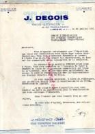 87 - LIMOGES - SAINT JUNIEN- LETTRE TSF - J. DEGOIS ELECTRICIEN-66 RUE FRANCOIS CHENIEUX-1951 - Frankreich