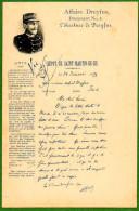 AFFAIRE DREYFUS. DOCUMENT N° 2. DEPOT DE SAINT MARTIN DE RE. - Evènements
