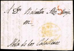 AVILA PREF. - PIEDRAHITA PE 1 - 1842 CARTA CIRC. A AVILA - PORTEO 5 - España