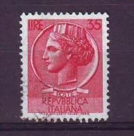 Repubblica Italiana, 1955/60 - 35 Lire Siracusana Fil. Stelle - Usato° - 1946-60: Usati