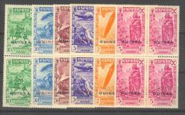 GUIBE12-L4169TV.Guinee. Historia  Del Correo. GUINEA. ESPAÑOLA.BENEFICENCIA.194 3.(Ed  12/7**)BL4. Sin Charnela.LUJO - Variedades & Curiosidades