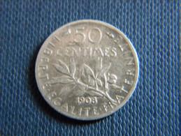 FRANCE - 50 CENTIMES 1908. - G. 50 Centimes