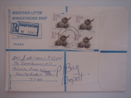 South Africa RSA 1989 REGISTERED Commercial Cover Eikefontein To RSA Nice Stamps - South Africa (1961-...)