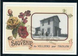 89   VILLENEUVE  SUR  THOLON   ... . ..... Gare Souvenir Au Fusain Creation Moderne Série  Numerotée 1 à 10 ... N° 2/10 - Autres Communes