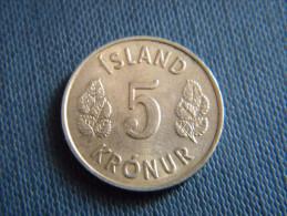 ISLANDE - 5 KRONUR 1970. - Islande