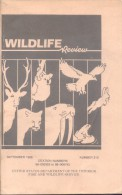 WILDLIFE REVIEW SEPTEMBER 1988 NUMBER 210 - UNITED STATES DEPARTMENT OF THE INTERIOR FISH AND WILDLIFE SERVICE - Books, Magazines, Comics