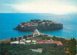 Sveti Stefan, Montenegro Postcard Used Posted To UK 1986 Stamp - Montenegro